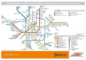 Pianta metro Milano